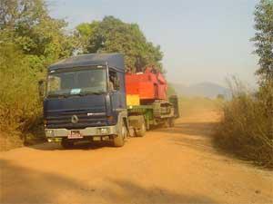 Scpm international concassage location engin travaux for Porte char 60 tonnes